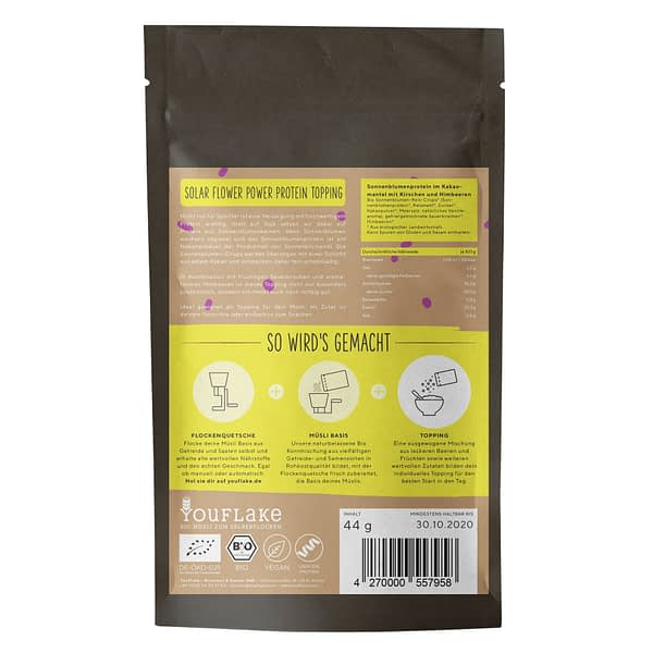 YouFlake Solar Flower Power Protein Topping Bio Back