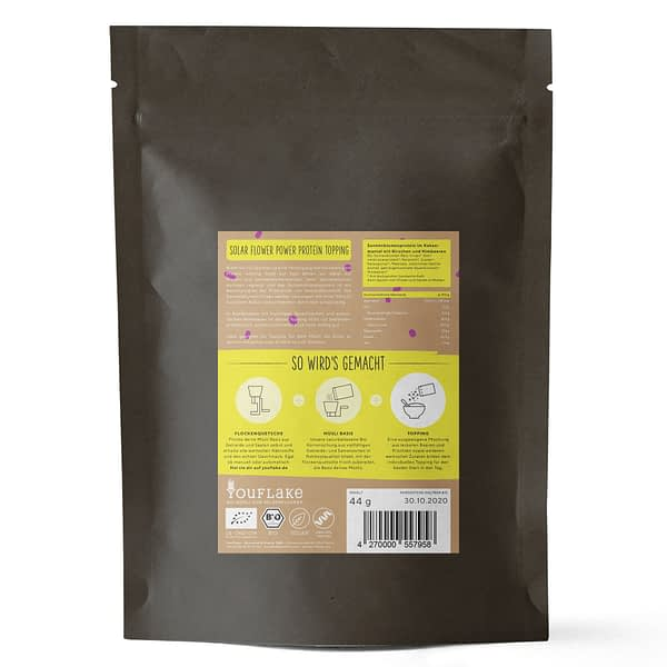 YouFlake Solar Flower Power Protein Topping Bio Bigpack Back