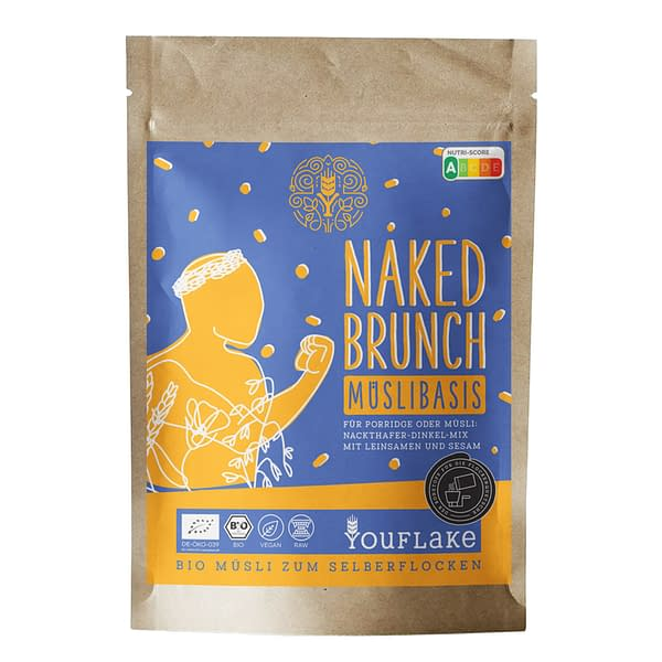 YouFlake Naked Brunch Müsli Basis Front