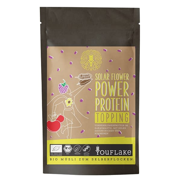 YouFlake Solar Flower Power Protein Topping Bio Front