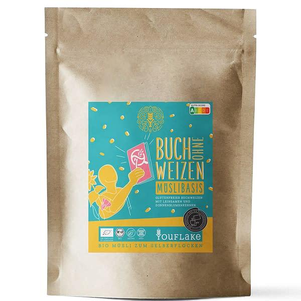 YouFlake Buch ohne Weizen Müsli Basis 2,5 kg Front