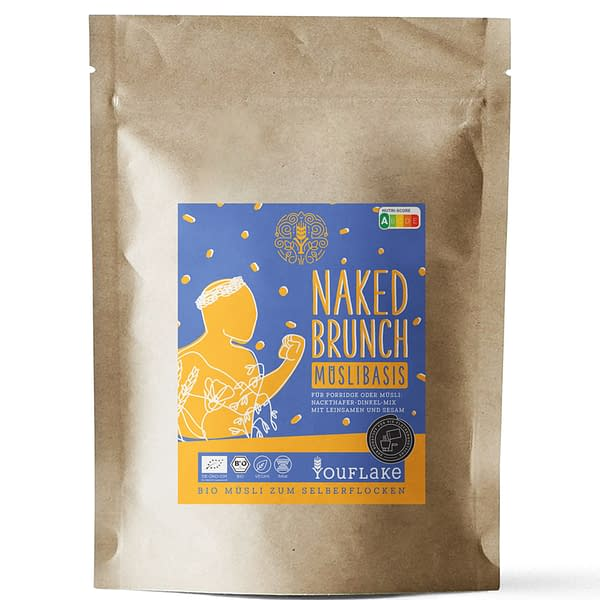 YouFlake Naked Brunch Müsli Basis 2,5 kg Front